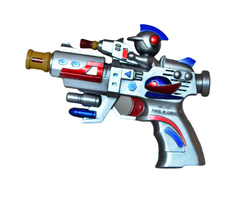Пистолет на батарейках 220 в пакете.