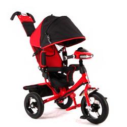 Велосипед трехколесный с  фарой MF289692 красный