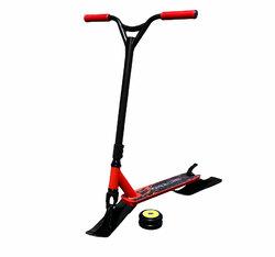Трюковой самокат 2 в 1(лыжи+колеса) красный
