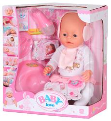 Пупс интерактивный Baby Love BL012A(8 функций, кнопка на животе).