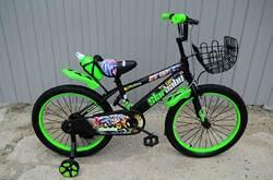 "Велосипед Star Baby 20"" с бутылочкой зелёный."